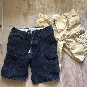 Abercrombie & Fitch 2 pairs of cargo shorts